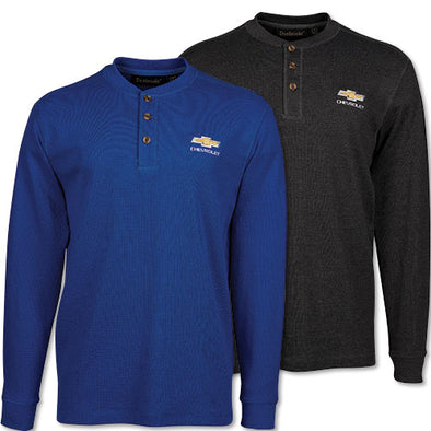 Men's Chevrolet Gold Bowtie Henley T-Shirt