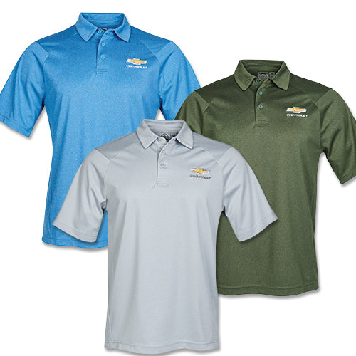 Men's Chevrolet Gold Bowtie Mistral Heathered Polo