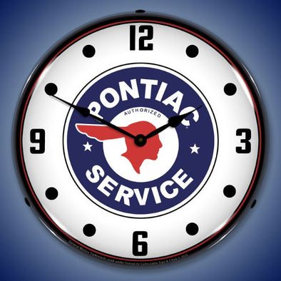 Pontiac Service Lighting Clock