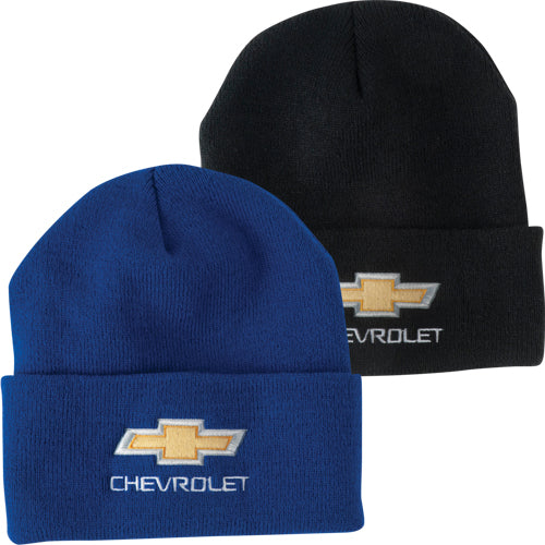 Chevrolet Gold Bowtie Knit Cap