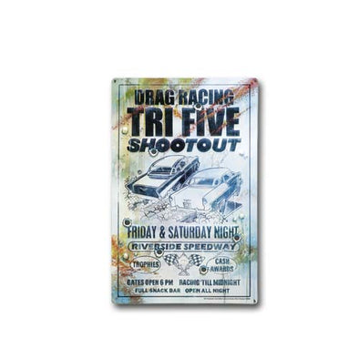 Tri-Five Shootout Chevy Metal Poster