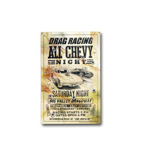All Chevy Night Metal Poster