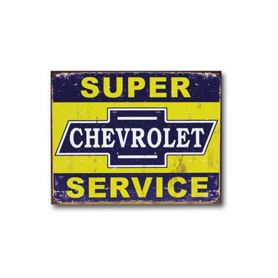 DISTRESSED SUPER SERVICE TIN SIGN