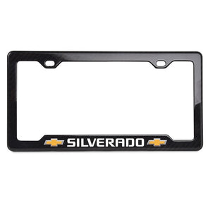 Chevy Truck Carbon Fiber License Frame | Silverado | Notched