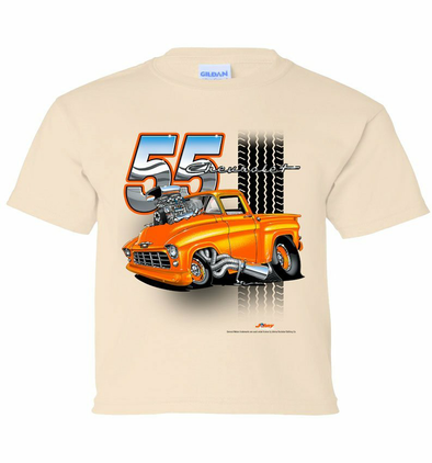 55 Chevy Truck Tooned Up Youth T-Shirt