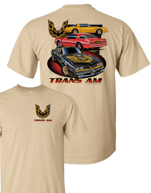 Pontiac Trans Am Three Cars T-Shirt