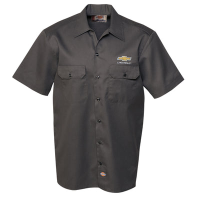 Chevrolet Gold Bowtie Dickies Work Shirt
