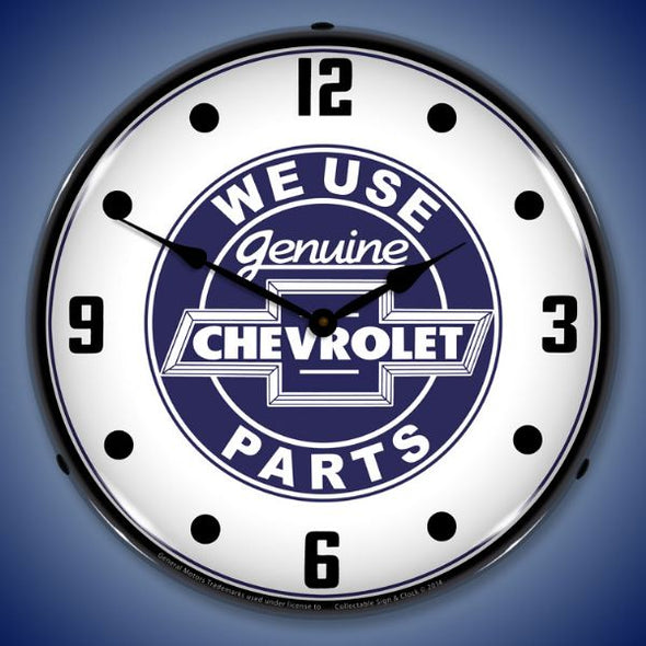 We Use Chevrolet Parts Lighted Clock