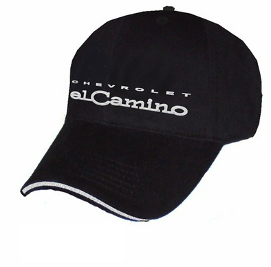 El Camino Liquid Metal Logo Black Cap