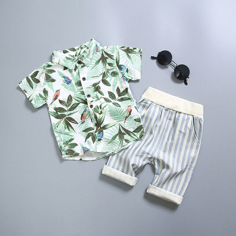 Baby Clothes Suit for Newborns Boy Cotton Clothing Set Summer Fashion Outerwear Infant Babies Boys Set Blouse+Pant Kids Costume