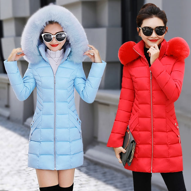 cotton Hooded Parkas Warm Outwear - exploreyourfashion