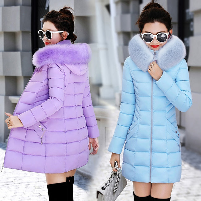 cotton Hooded Parkas Warm Outwear