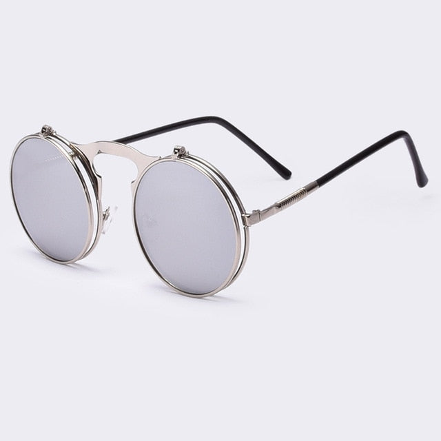 Round Designer steam punk Sunglasses |  Fashion is an Art.  I have always loved fashion because it's great way to express who you are so girls follow me and Explore Your Fashion