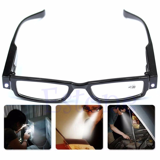 Multi Strength LED Reading Glasses Eyeglass Spectacle
