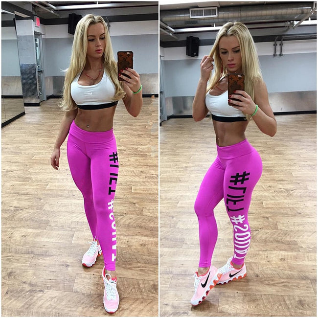 Squat Letter Print High Waist Leggings Pants | Fashion is an Art.  I have always loved fashion because it's great way to express who you are so girls follow me and Explore Your Fashion .