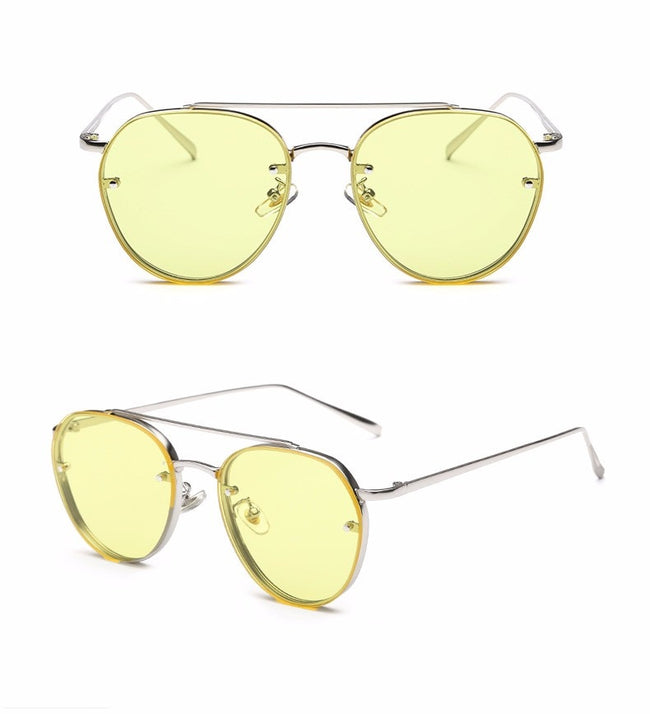 Peekaboo Newest yellow green pink ocean sunglasses women fashion summer style - exploreyourfashion