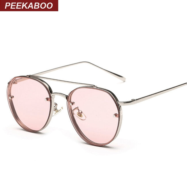 Peekaboo Newest yellow green pink ocean sunglasses women fashion summer style