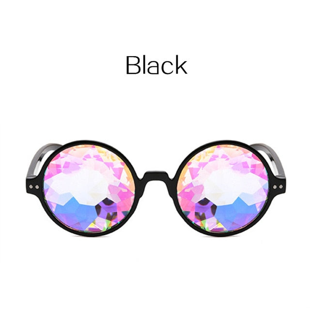 Kaleidoscope Glasses Rave Men  and Women Round Kaleidoscope Sunglasses
