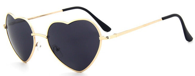 Heart Shaped Sunglasses metal Women Brand Designer - exploreyourfashion