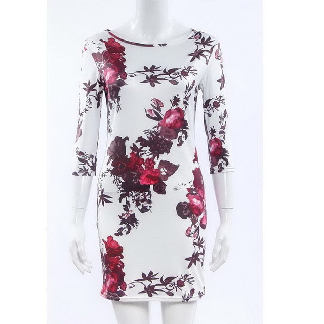 Floral Printed Half Sleeve Summer Dress 2019