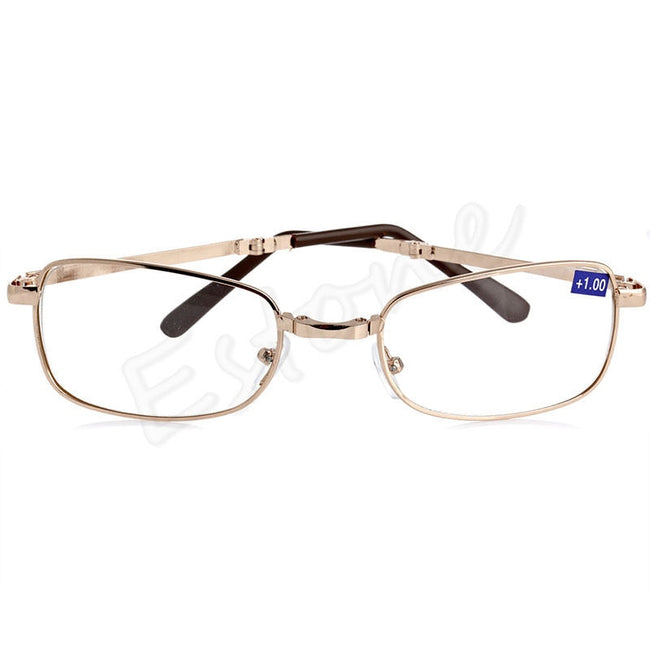 A40 New Unisex women men 1PC Folding Metal Reading Glasses