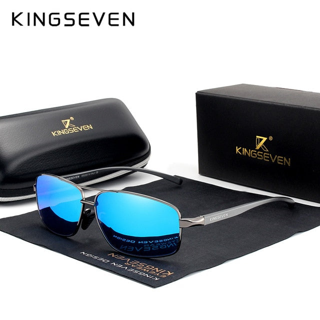 KINGSEVEN Vintage Retro Brand Designer Men Polarized Sunglasses