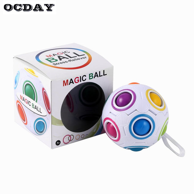 RAINBOW ANTI-STRESS FIDGET BALL
