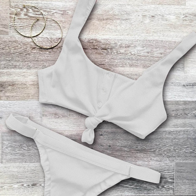 Sexy Swimsuit Bandage Halter Beach Wear 2019 | Fashion is an Art.  I have always loved fashion because it's great way to express who you are so girls follow me and Explore Your Fashion