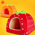 Strawberry shape cat house