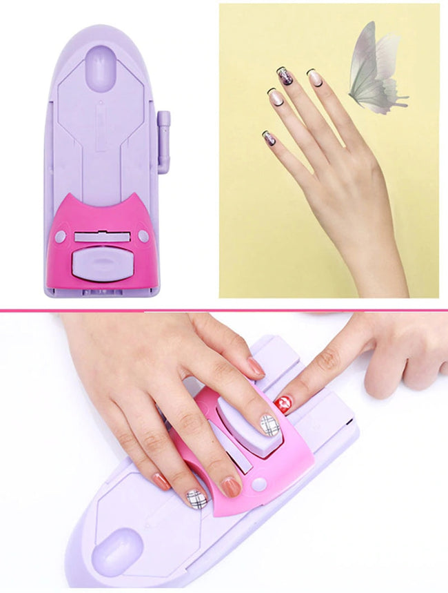 This Nail Art Printer is designed to stamp the cute images on your nails. You can decorate your nails with lovely images, flowers, animals, etc. Just set it up with one of the designs you like the most, chose your colors, chose glitter, or any other decoration you want, and print it on your nails.  Make your nails look perfect in seconds!