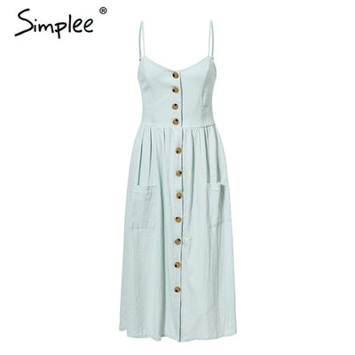 Summer casual Pocket polka dots dress 2019 - exploreyourfashion
