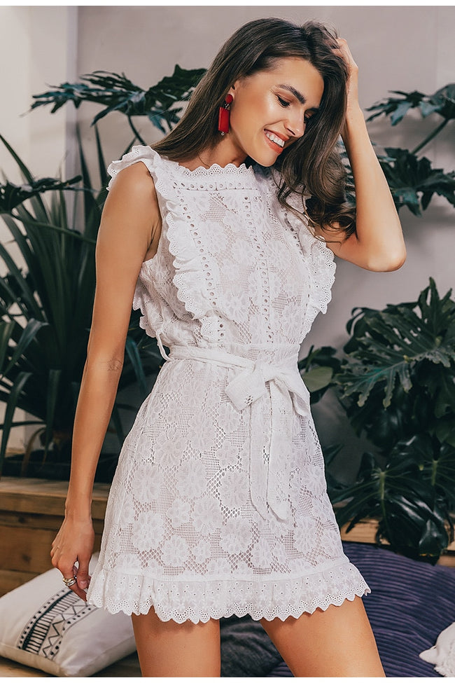 Elegant embroidery lace women dress 2019 | Fashion is an Art.  I have always loved fashion because it's great way to express who you are so girls follow me and Explore Your Fashion .