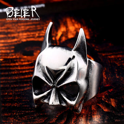 Stainless Steel Fashion Batman Men's Ring