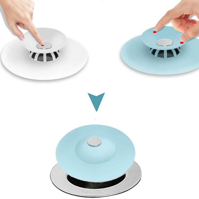 2-IN-1 DRAIN STOPPER AND SCREEN - exploreyourfashion