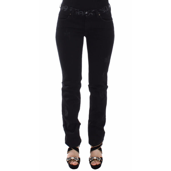Black Slim Jeans Denim Pants Skinny Stretch