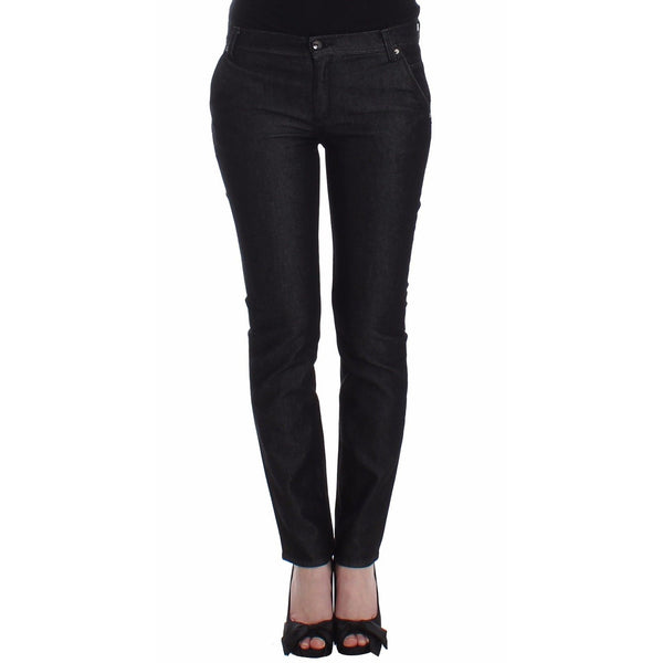 Black Slim Jeans Denim Pants Skinny Leg Stretch