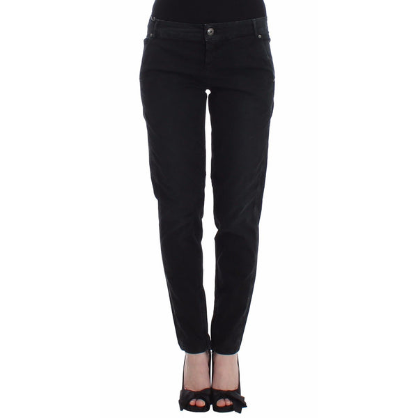 Blue Slim Jeans Denim Pants Skinny Leg Straight