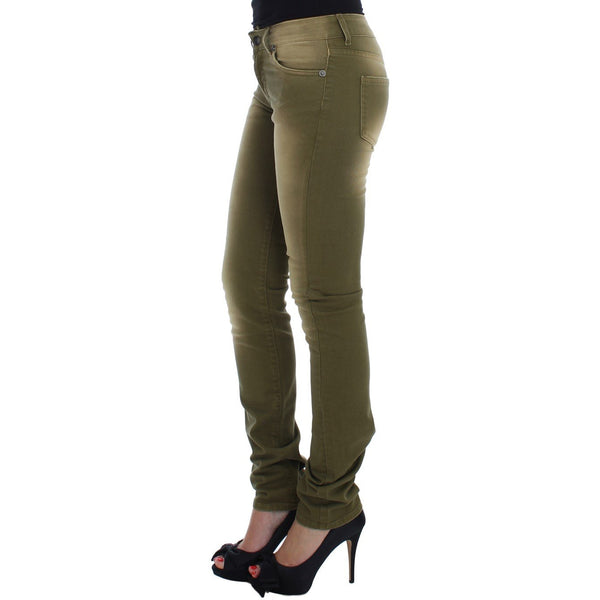 Green Wash Slim Fit Cotton Stretch Jeans