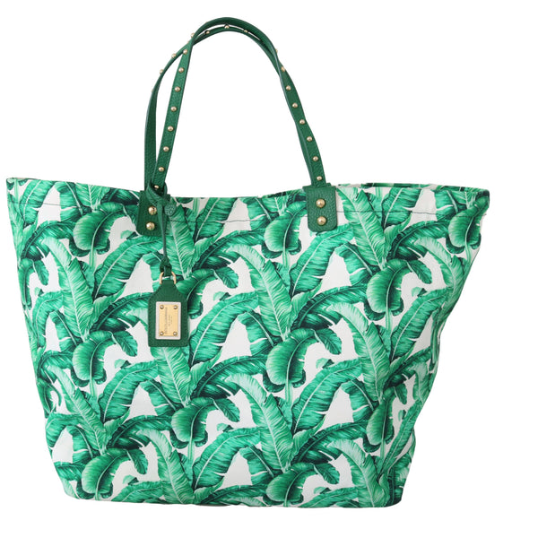 Green Banana Leaves BEATRICE Shopping Hand Tote Bag