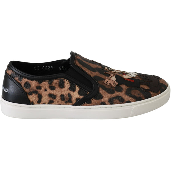 Leather Leopard #dgfamily Loafers Shoes
