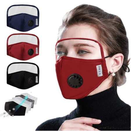 MiaLost™ - Face Mask With Eyes Shield