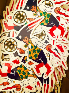 Boston Sports Fan Sticker