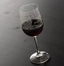 Load image into Gallery viewer, Boston Map Wine Glass