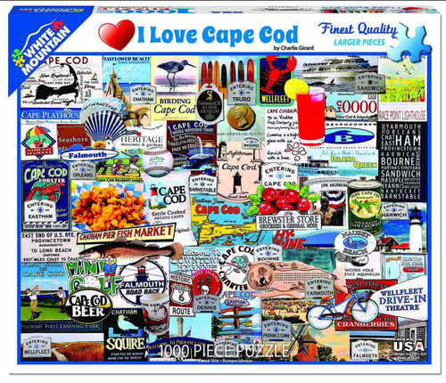 I Love Cape Cod 1000 Piece Jigsaw Puzzle