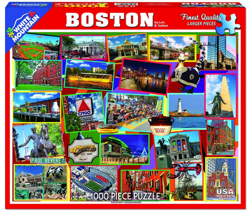 Boston Collage 1000 Piece Jigsaw Puzzle