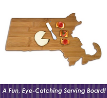 Load image into Gallery viewer, Massachusetts Bamboo Cutting Board