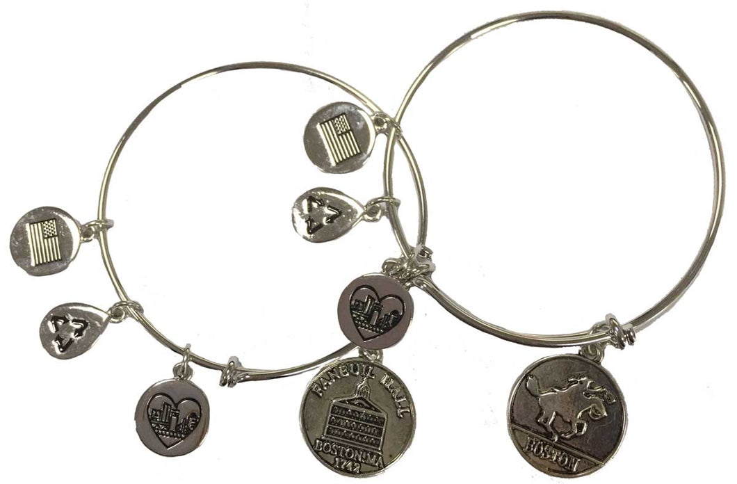 Faneuil Hall & Paul Revere Charm Bracelet (Set of 2)