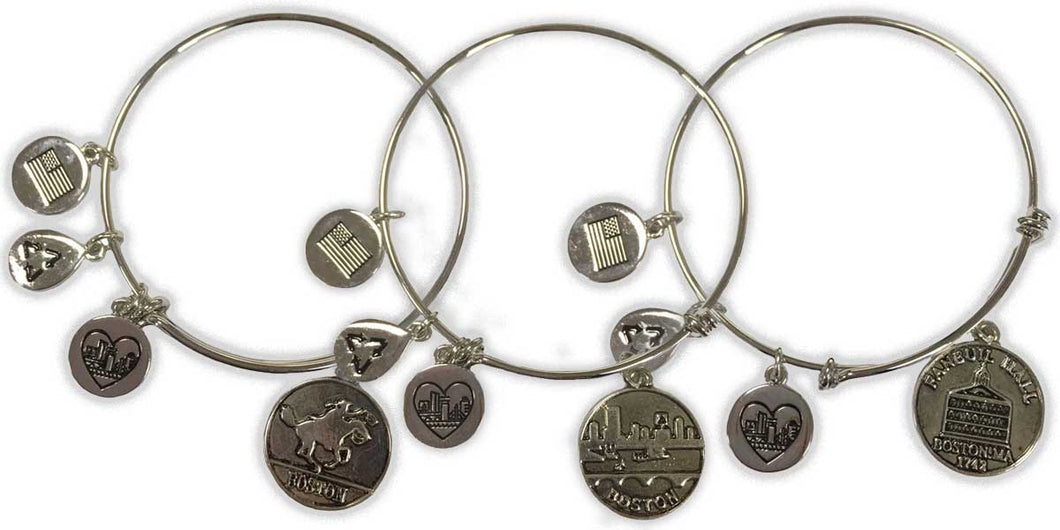 Boston Charm Bracelets (Set of 3)