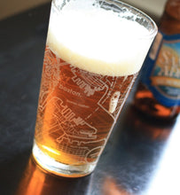 Load image into Gallery viewer, Boston Map Pint Glass