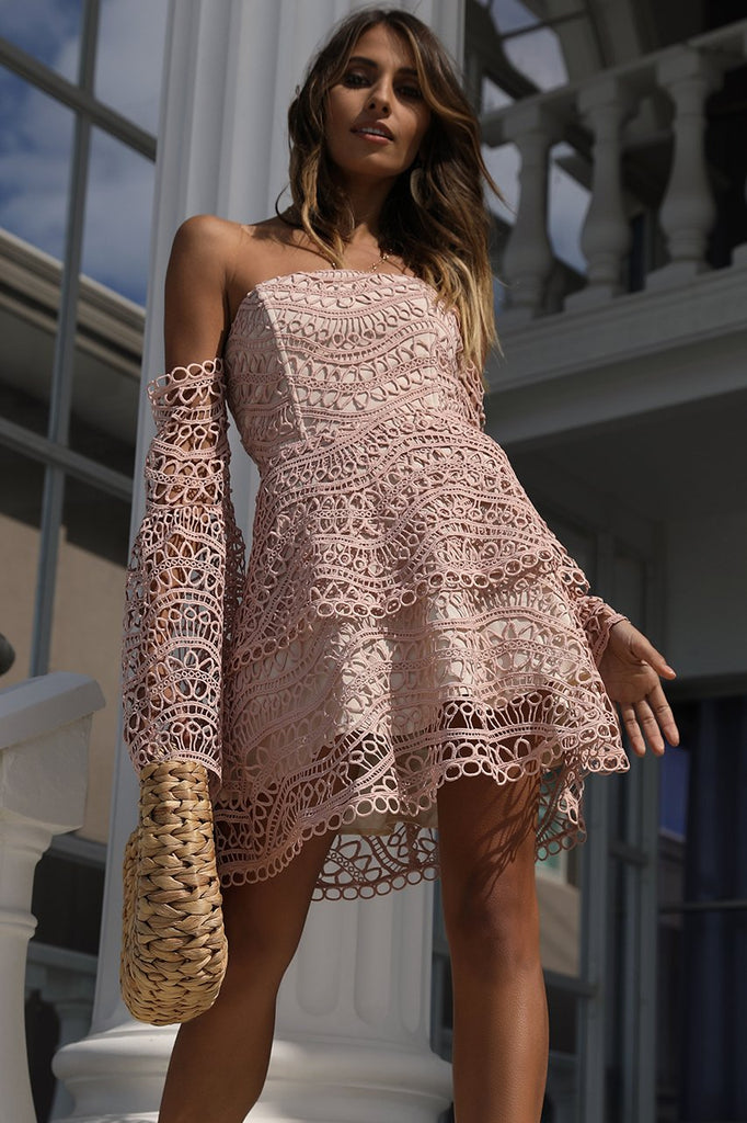 BUTTERFLY MINI DRESS - PINK